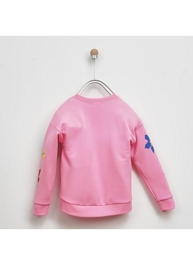Panço Kız Çocuk Sweatshirt 2021GK08031 Pembe